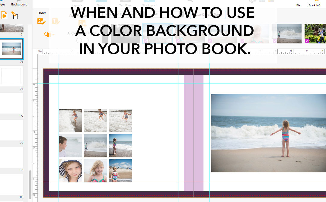When and how to use a color background in your photo book