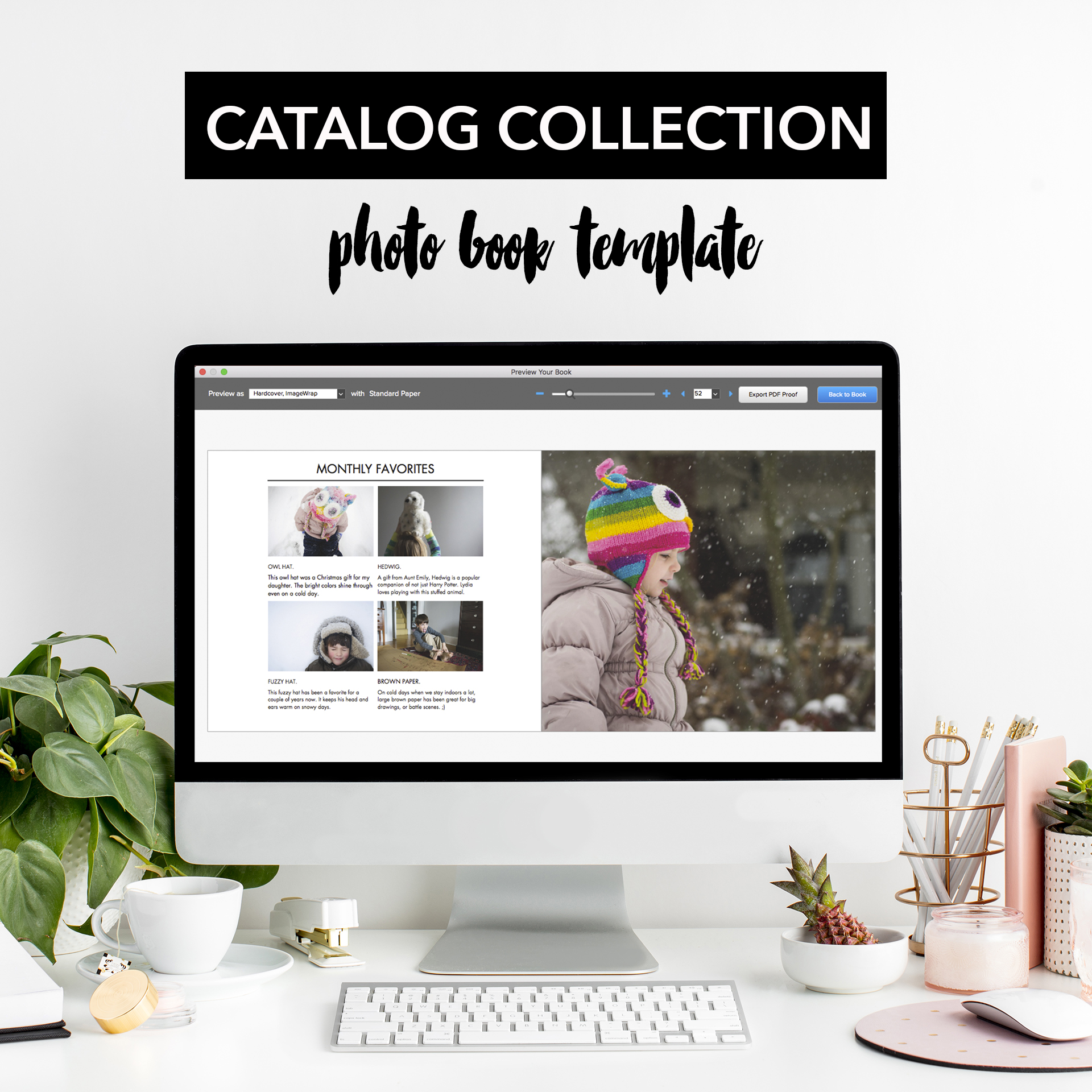 catalog collection photo book template book this project